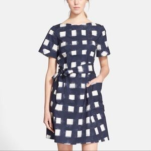 Tory Burch Tie-Front Poplin Square Dress Sz. 4
